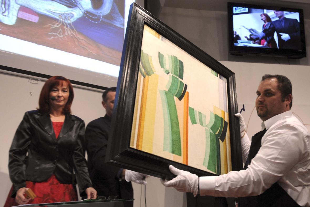 Aukce díla Františka Kupky, 2009