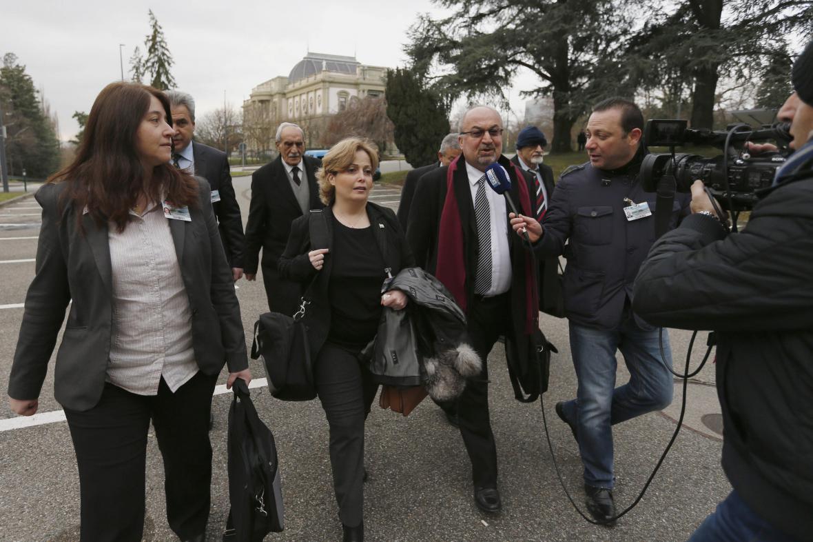Zástupci syrské opozice v Ženevě