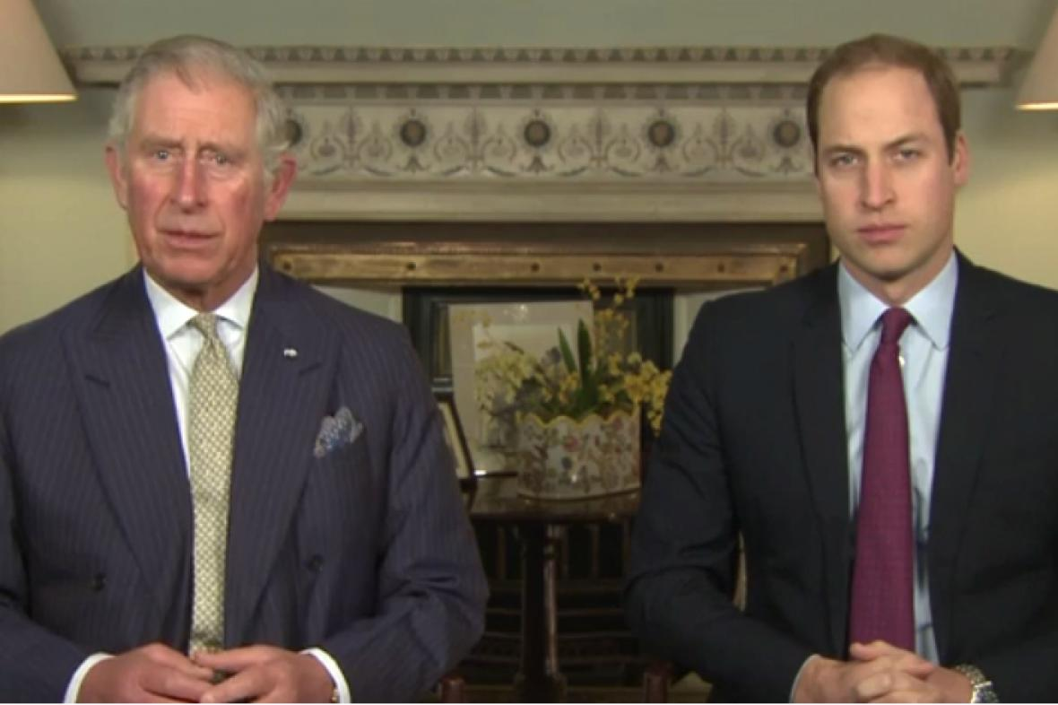 Princové Charles a William vyzývají k ochraně zvířat