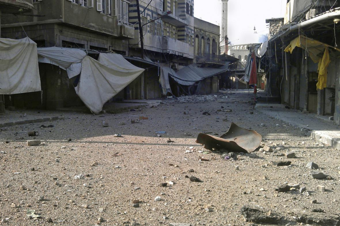 Syrské město Homs zdevastované boji