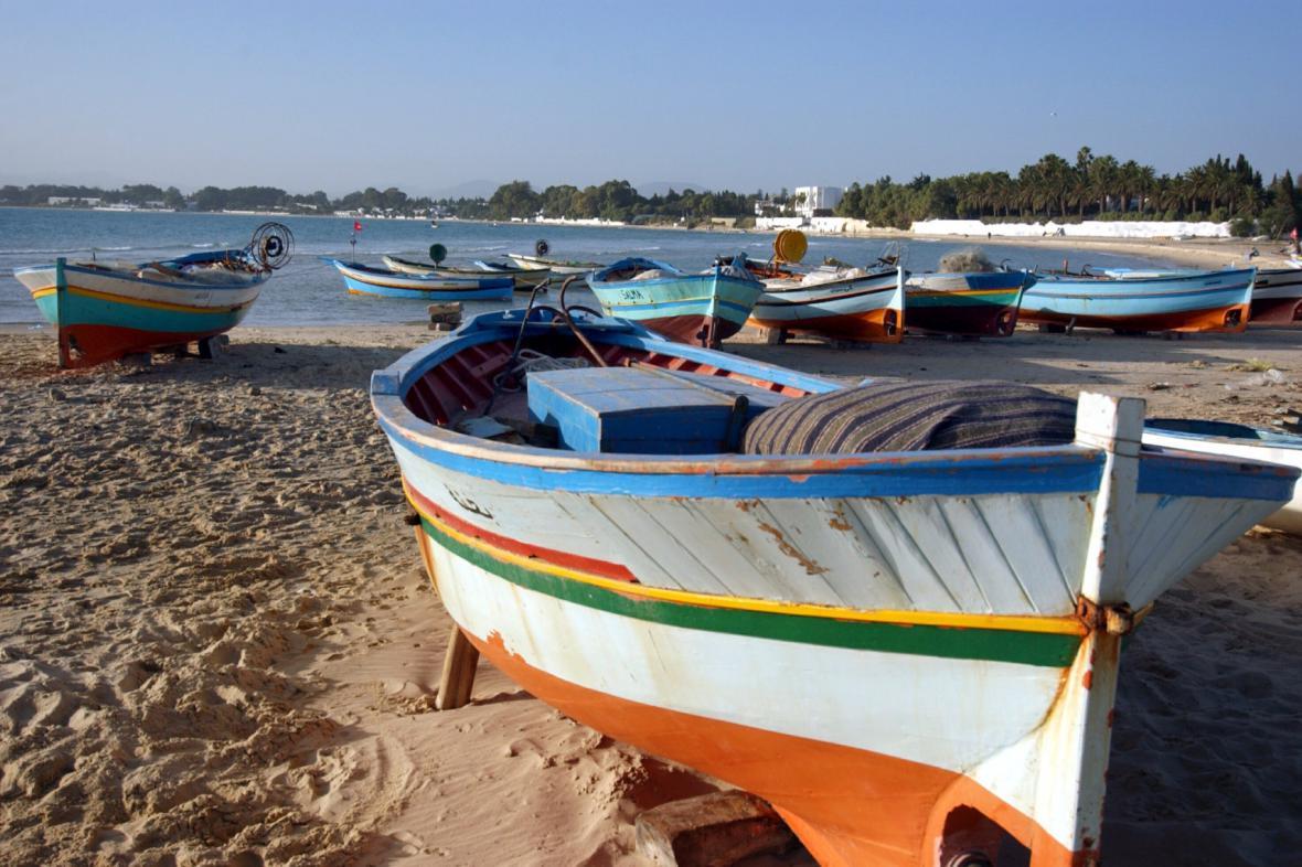 Pláž v letovisku Hammamet