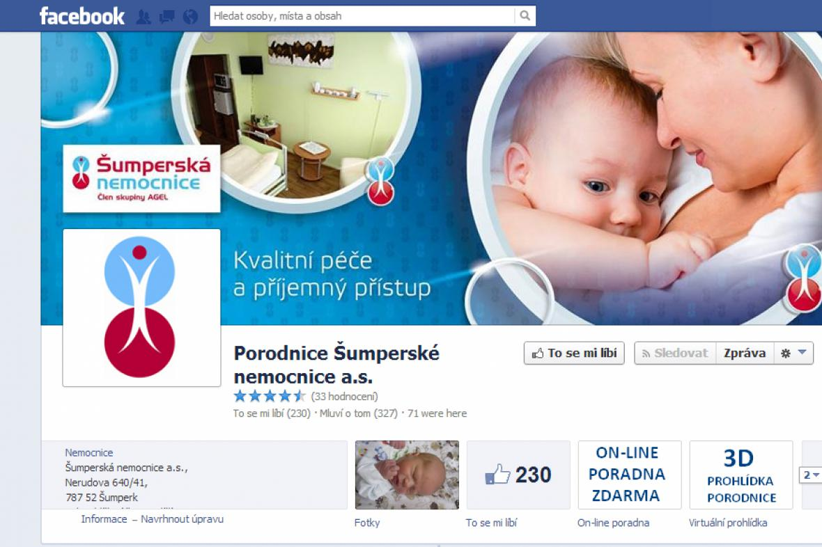 Facebook Porodnice Šumperské nemocnice