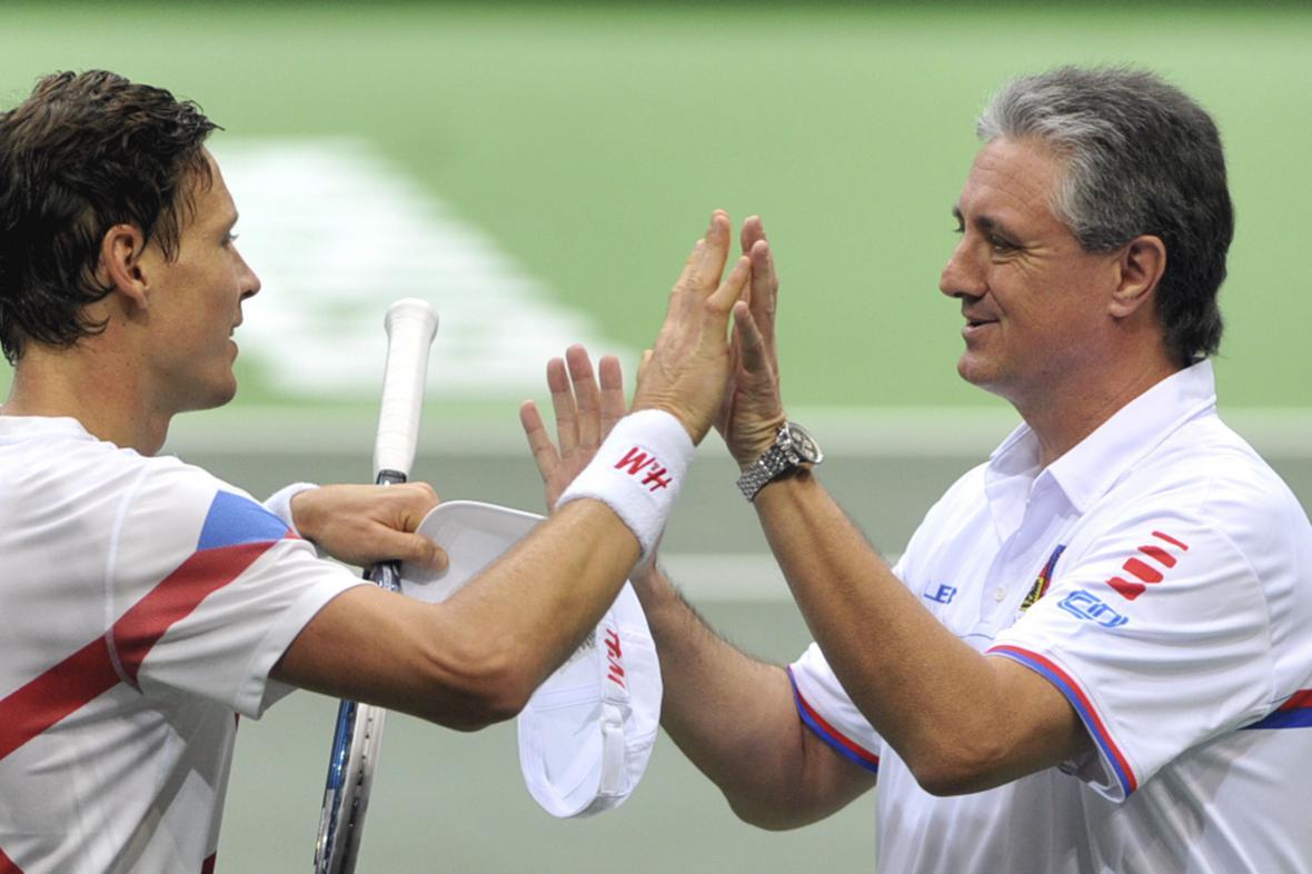 Tomáš Berdych s Jaroslavem Navrátilem