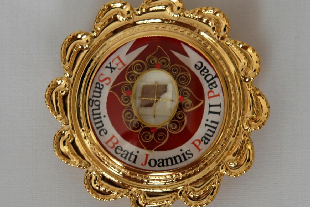 Relikvie s krví Jana Pavla II.