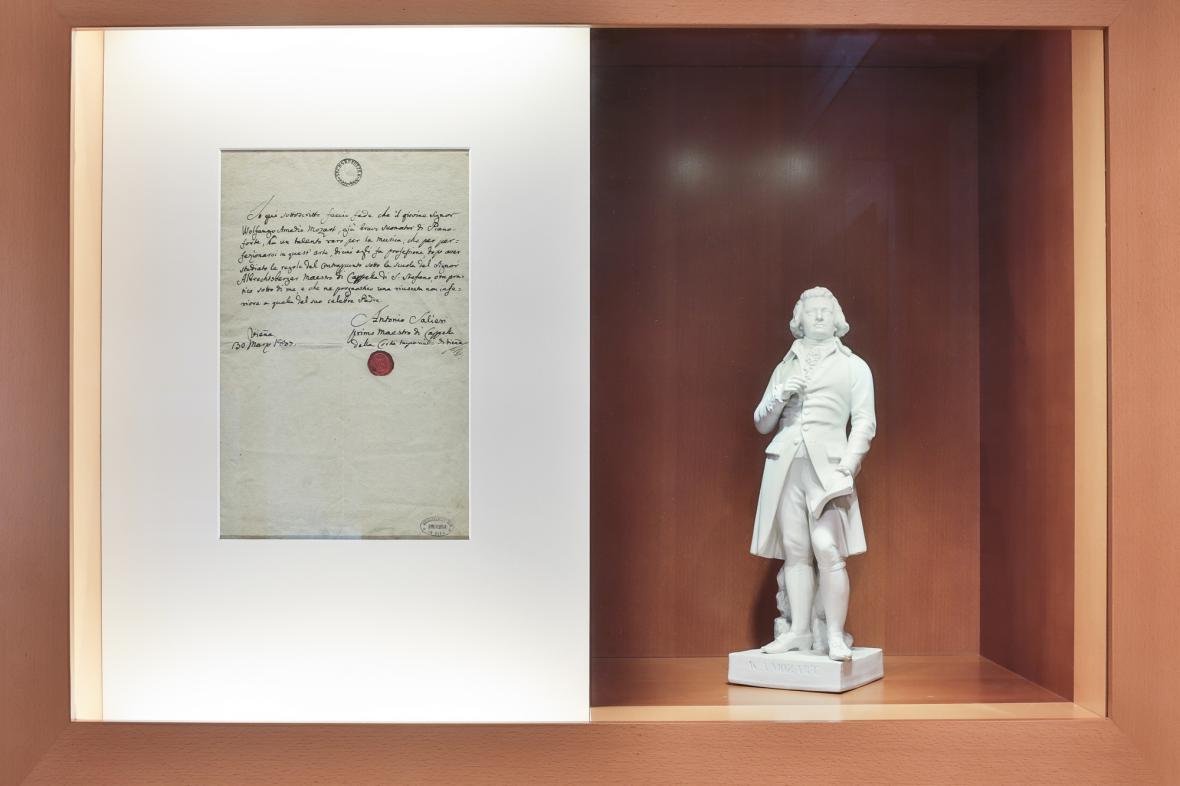 Z výstavy Antonio Salieri - fakta