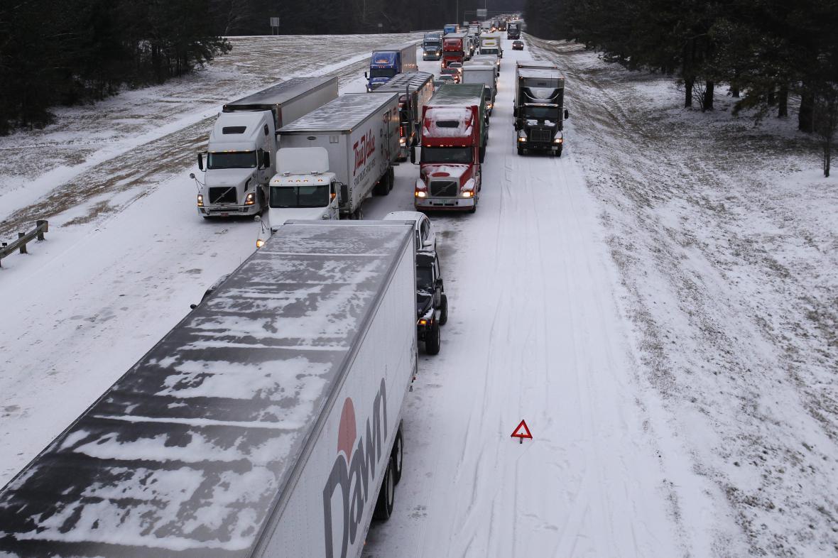 Mrazivé počasí na jihu USA