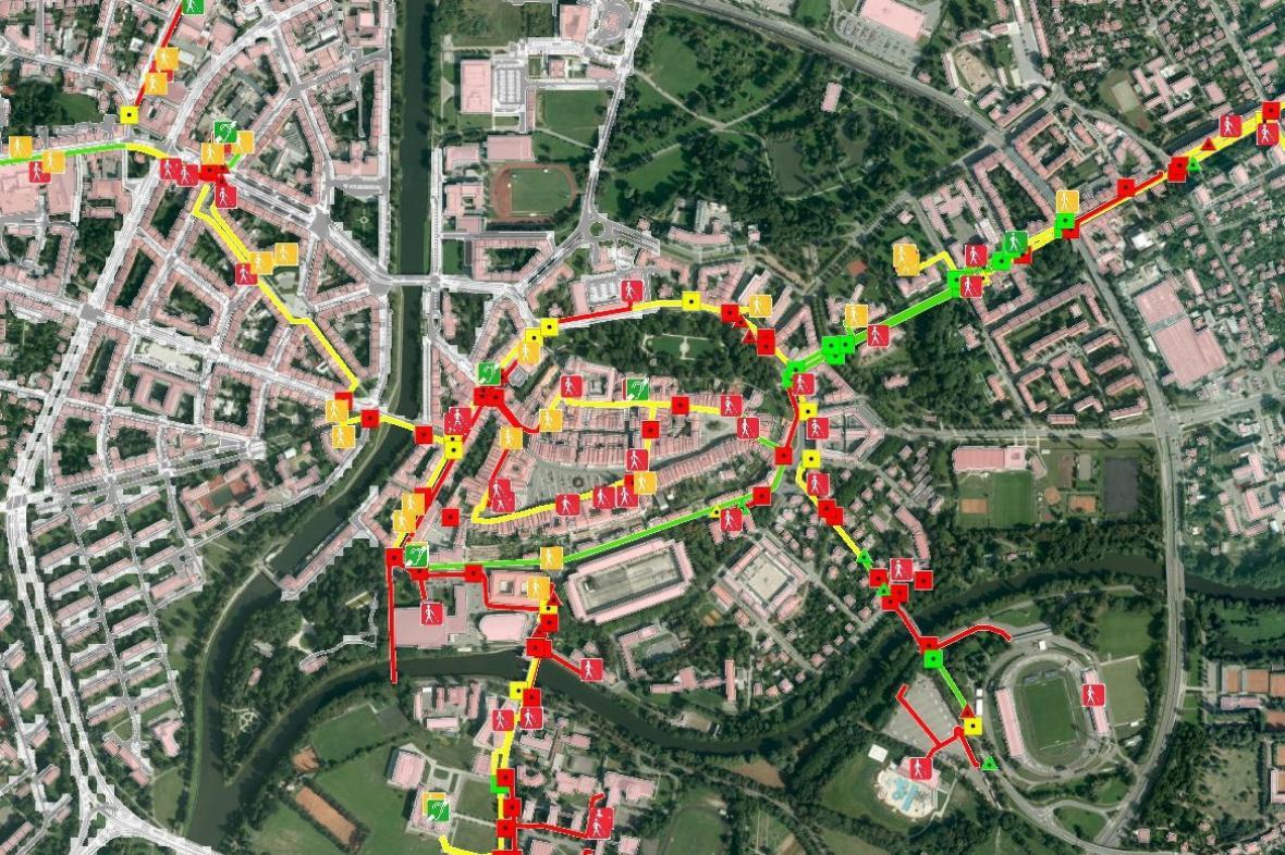 Mapový projekt - Bezbariérový hradec