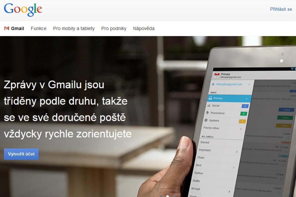 Elektronická pošta Gmail