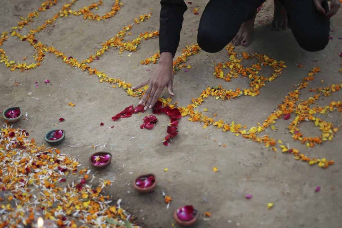 Pieta za znásilněnou indickou studentku