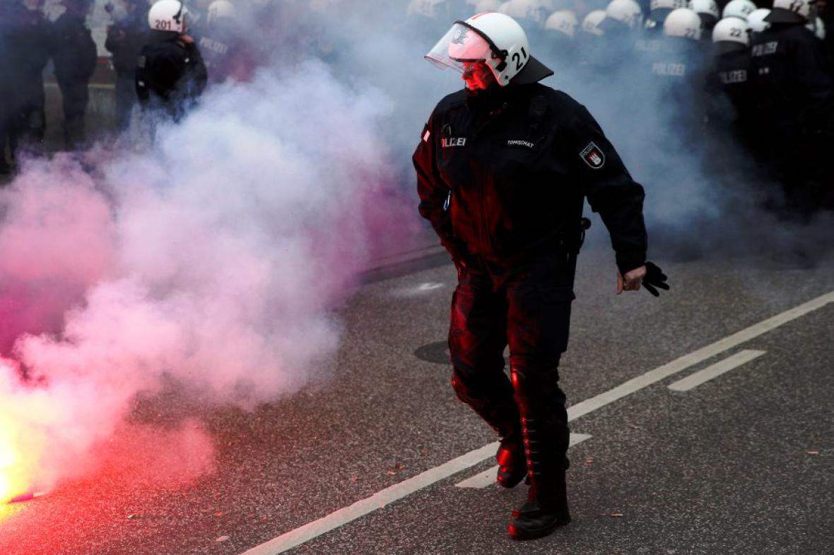 Demonstrace v Hamburku