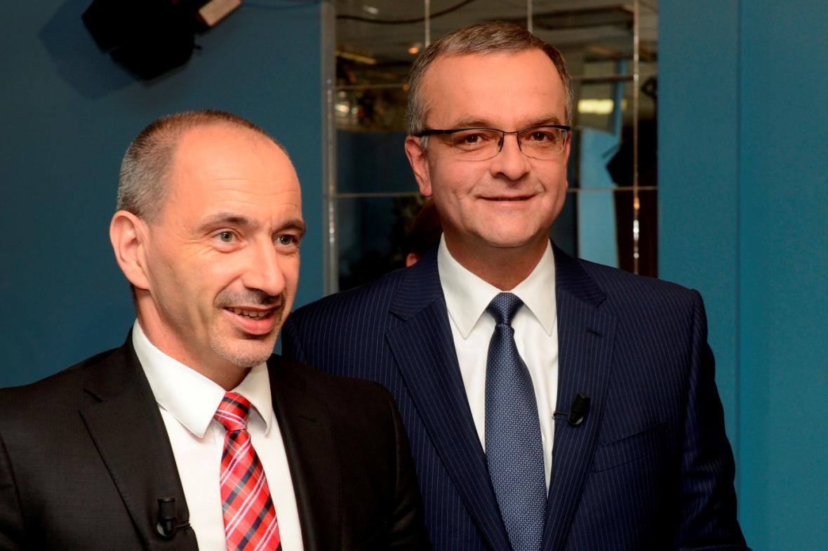 Martin Kuba a Miroslav Kalousek