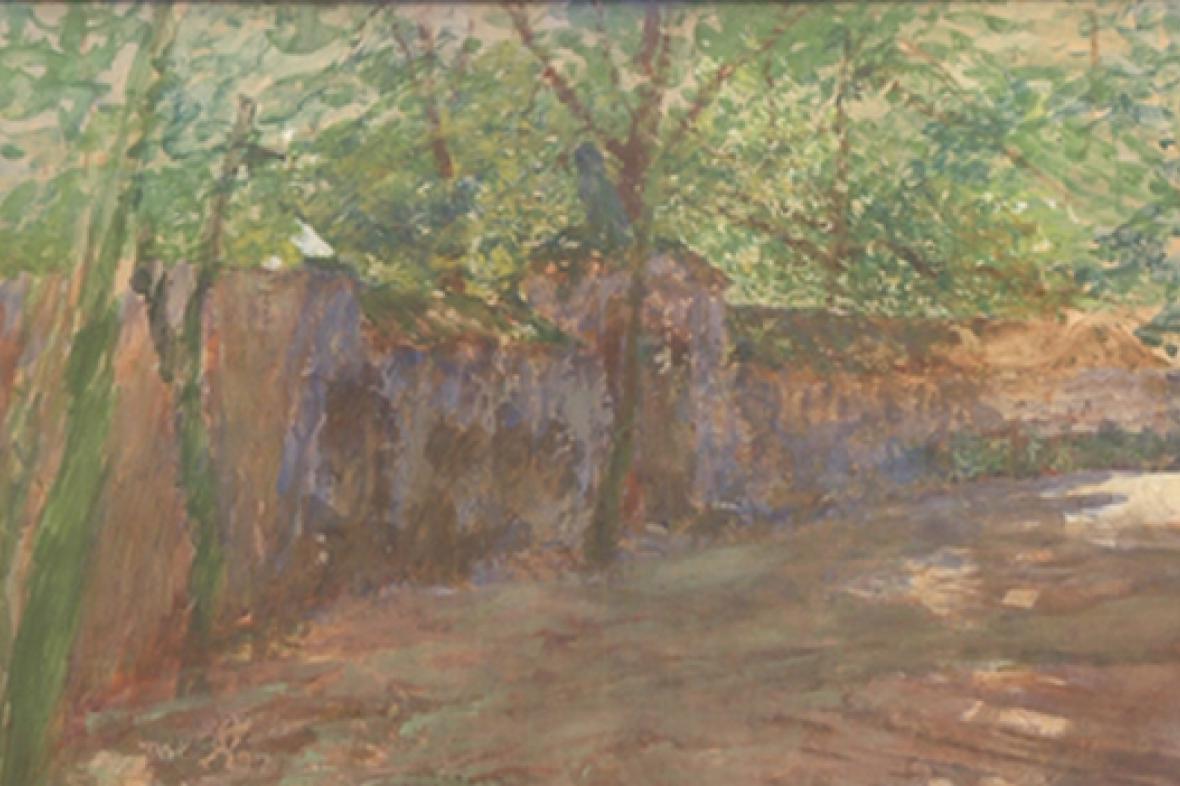 Antonín Slavíček / Zahradní zeď (detail)