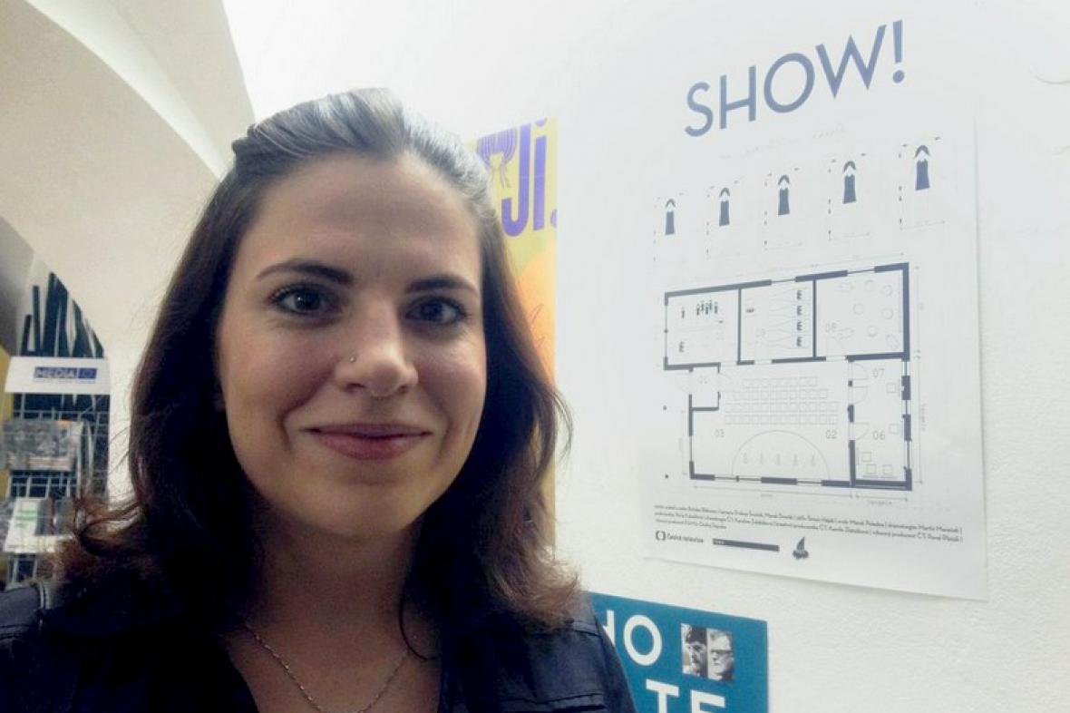 Kreativní producentka Kamila Zlatušková na festivalu v Jihlavě