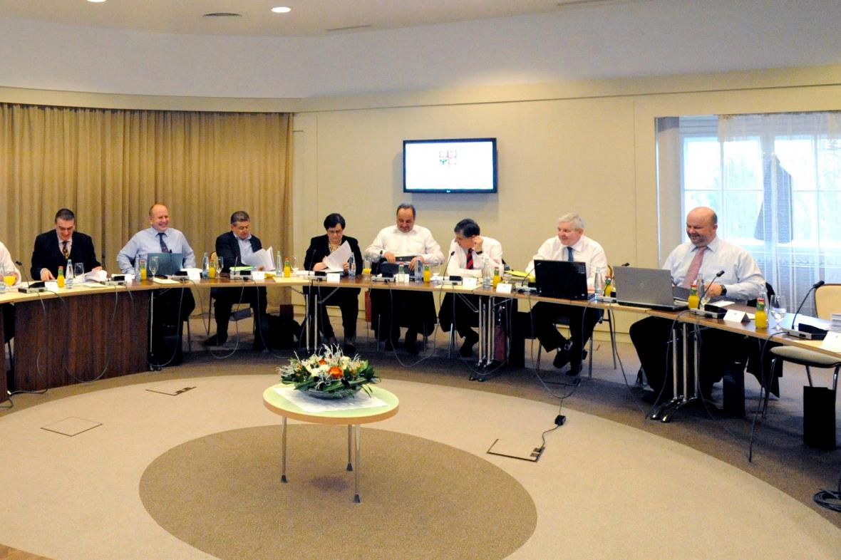 Zasedání vlády v Židlochovicích u Brna