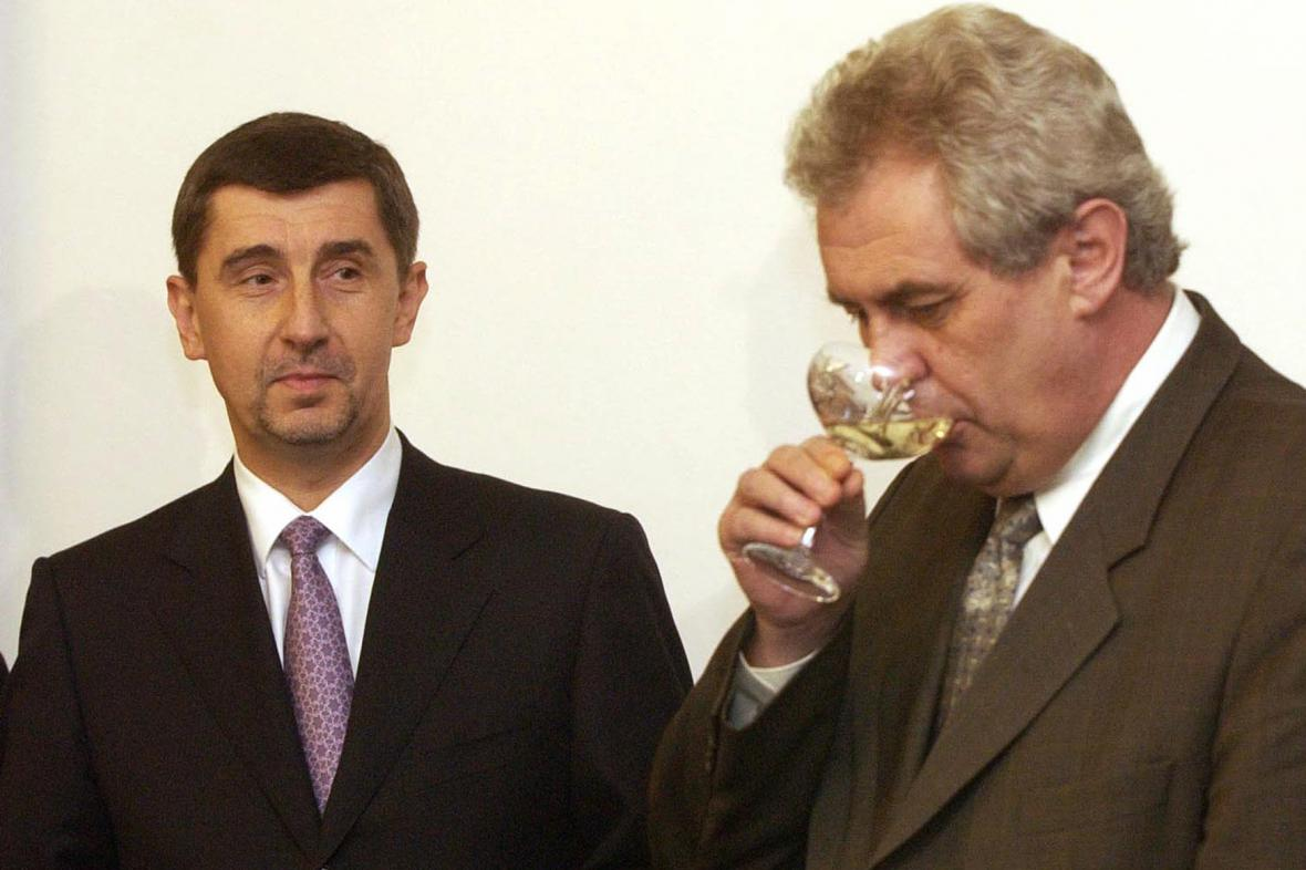 Andrej Babiš a Miloš Zeman (2002)