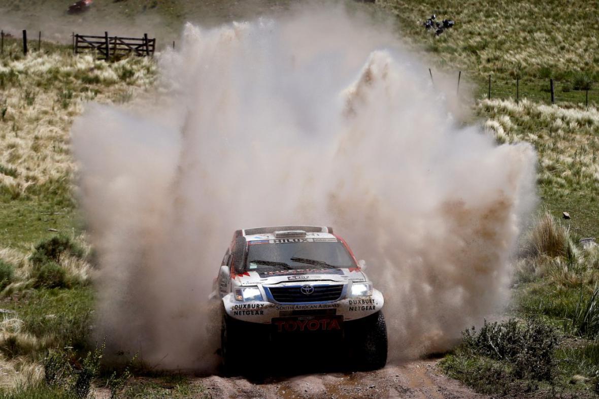 Jihoafričan Giniel de Villiers a jeho Toyota