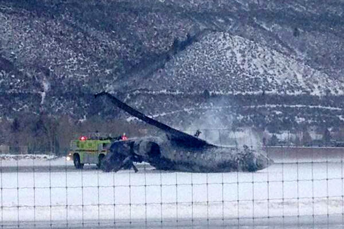 Havarované letadlo v Aspenu