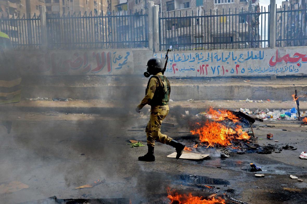 Egyptská policie rozehnala protivládní demonstrace
