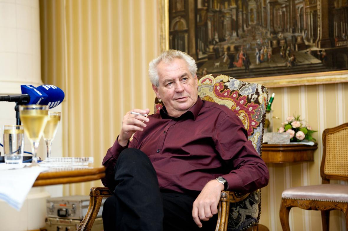 Prezident Zeman v Lánech