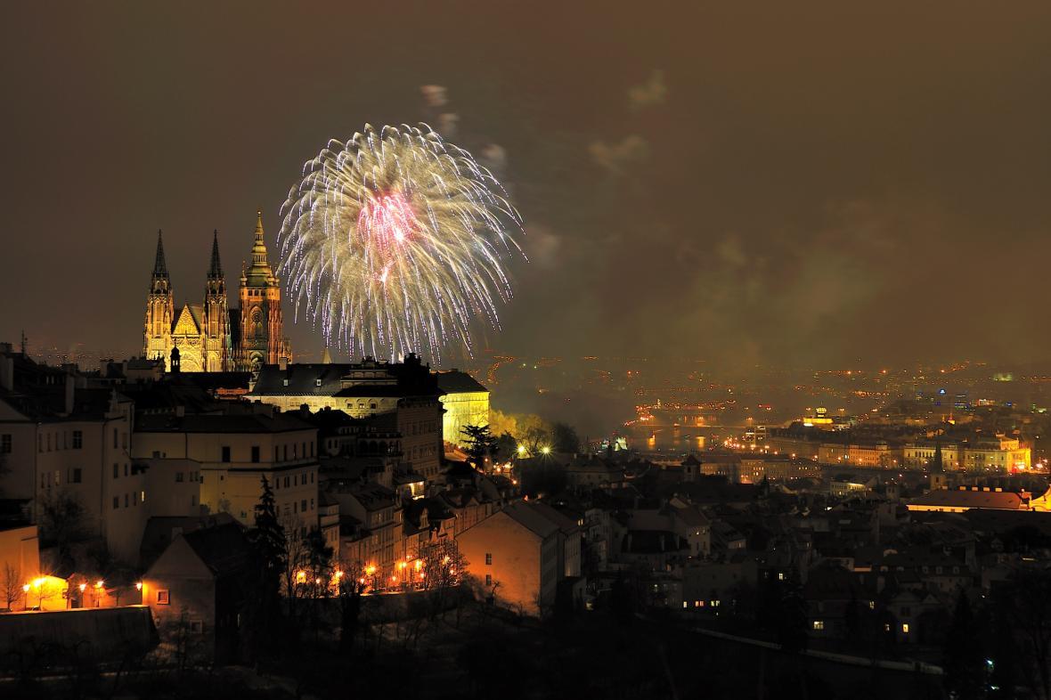 Oslavy Nového roku v Praze