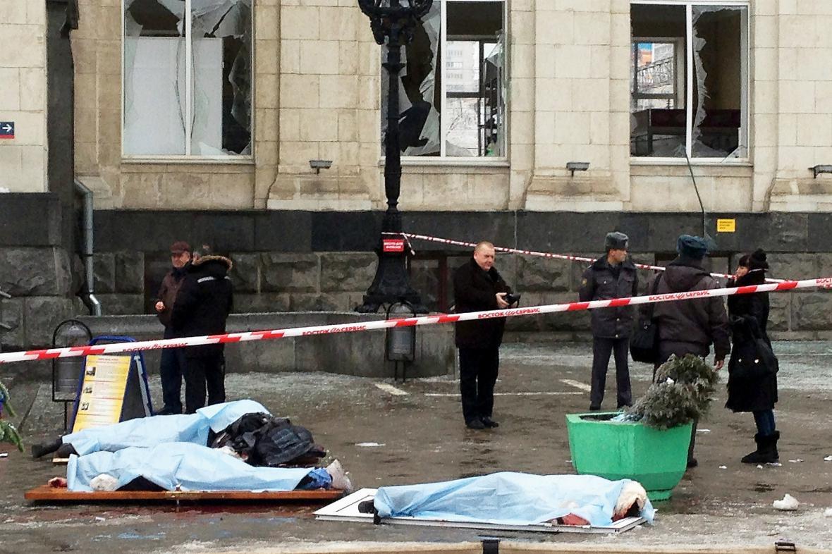 Oběti útoku ve Volgogradu