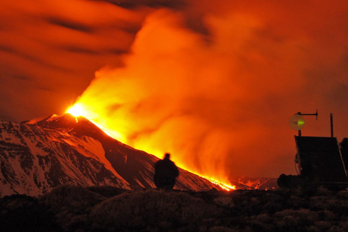 Erupce Etny v noci na 30. prosince