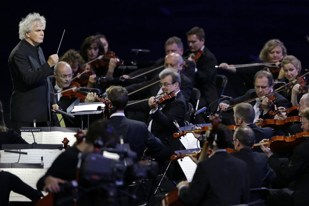Berlínská filharmonie v čele se Simonem Rattlem