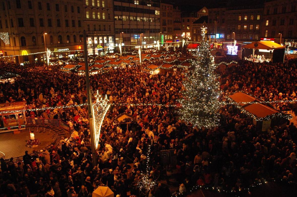 Vánoční trhy na náměstí Svobody