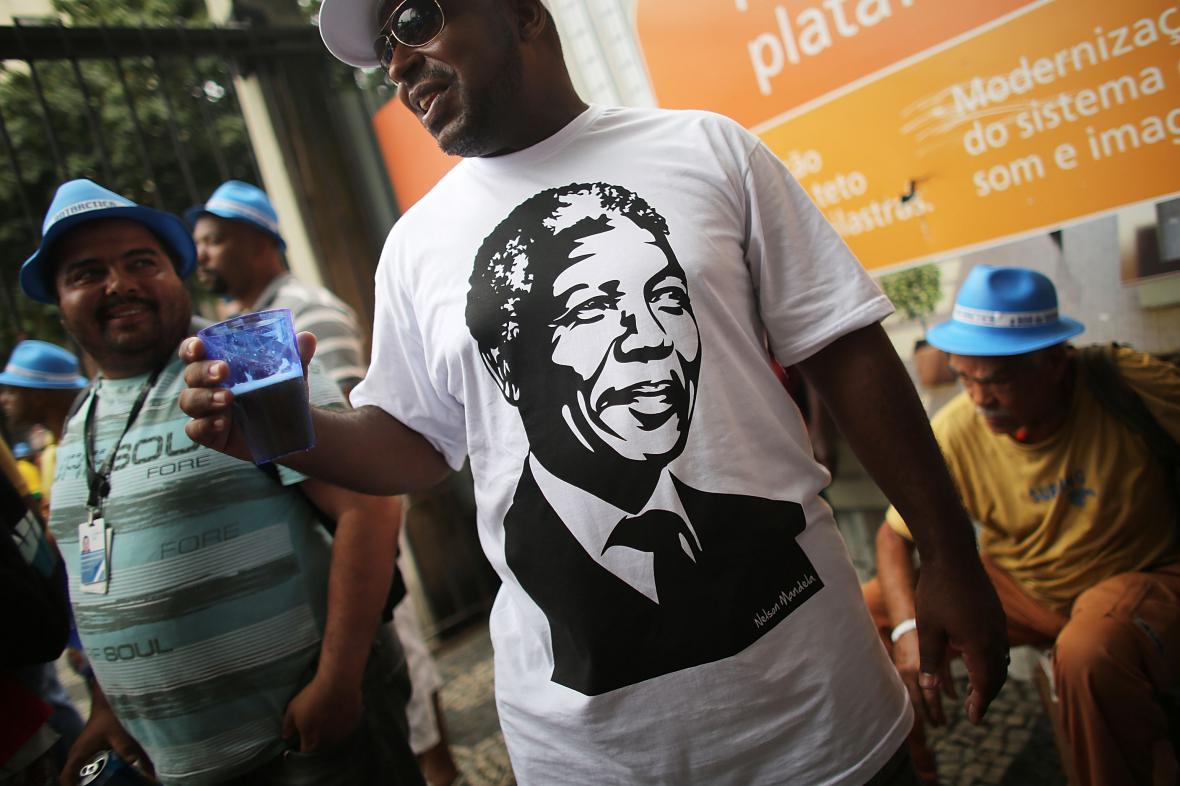 Tričko s Nelsonem Mandelou