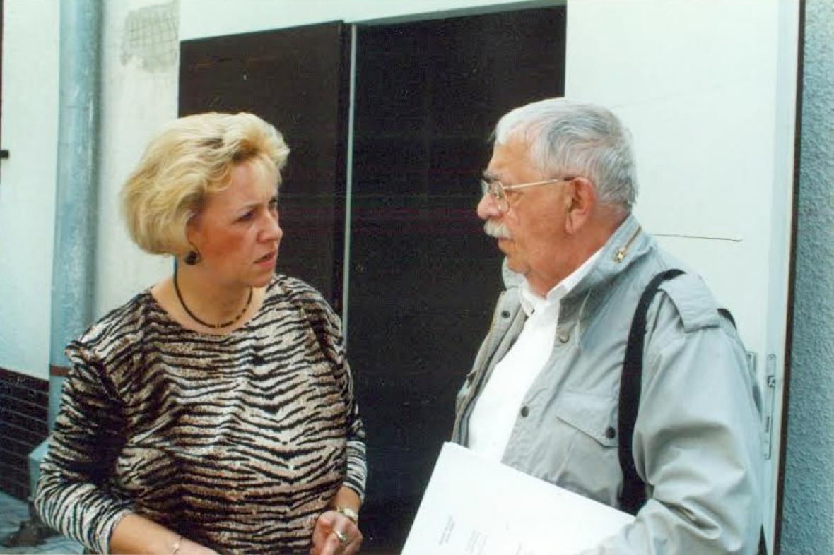 Výkonná producentka Darina Levová s Vlastimilem Brodským