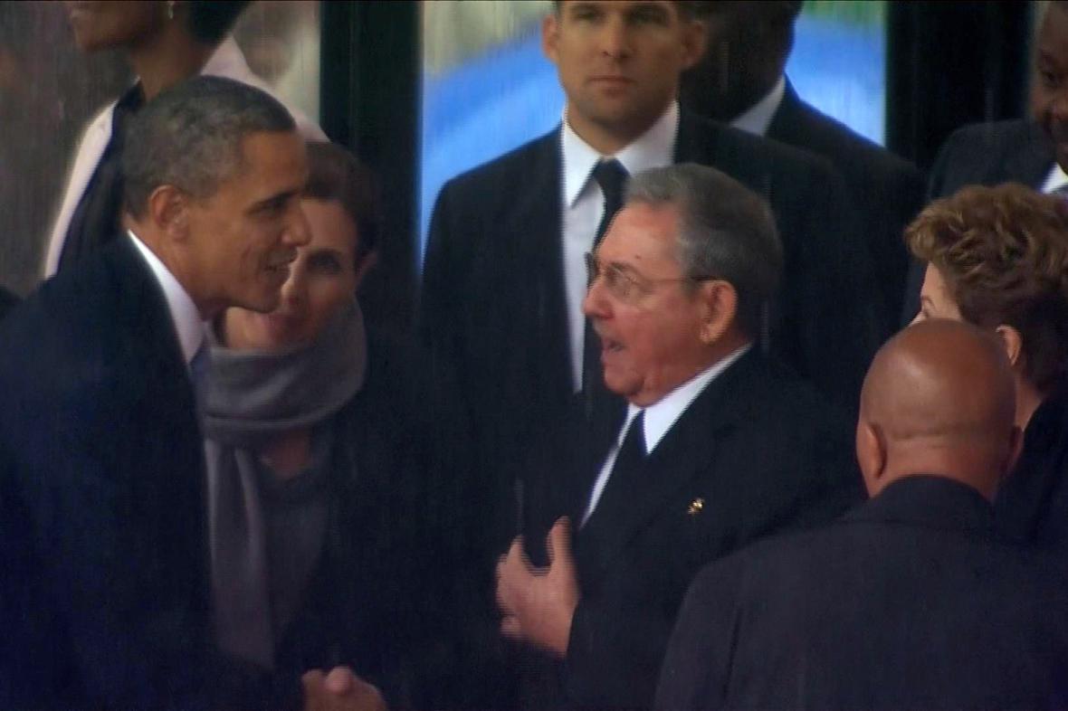 Barack Obama a Raúl Castro