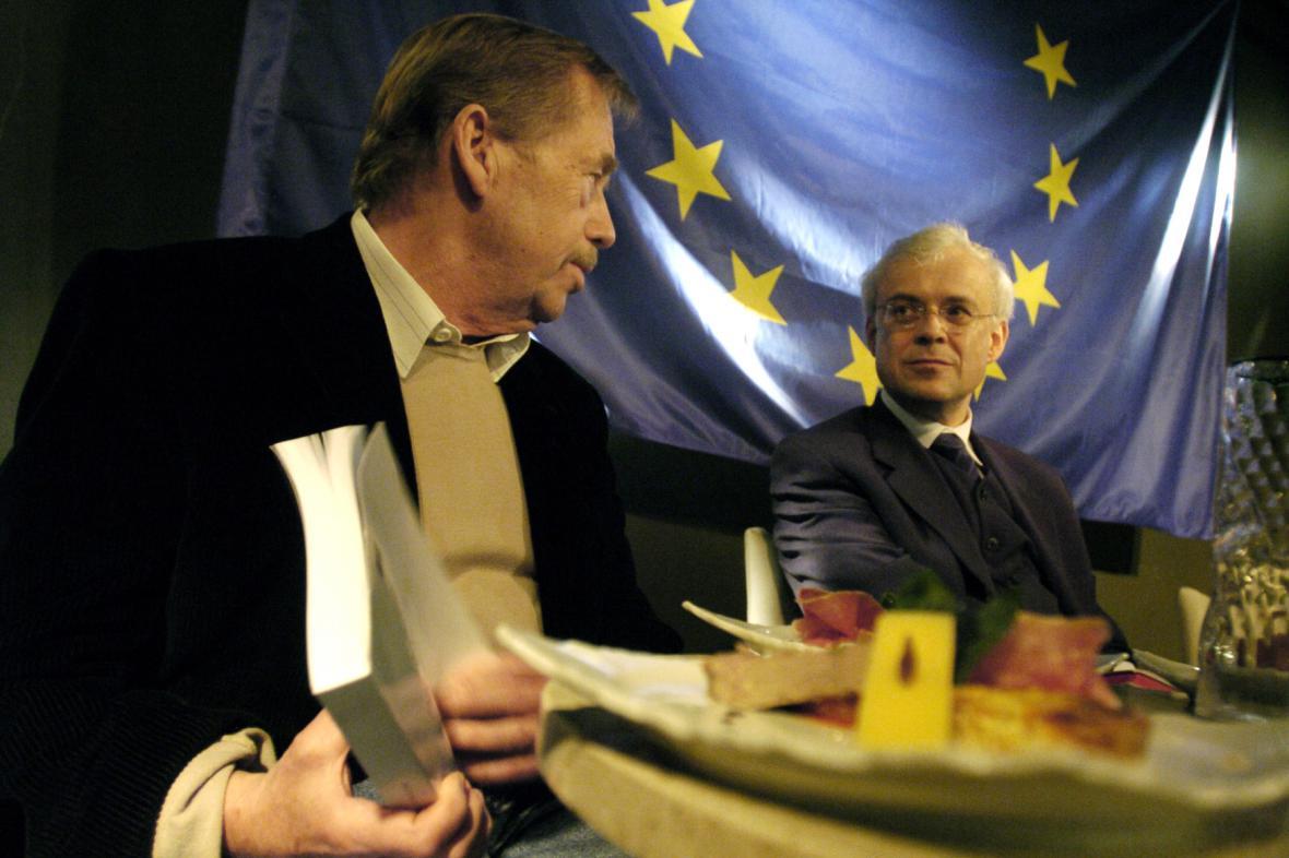 Václav Havel a Vladimír Špidla