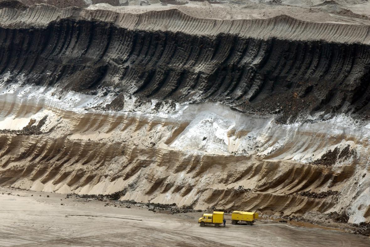 Těžba uhlí - povrchové doly