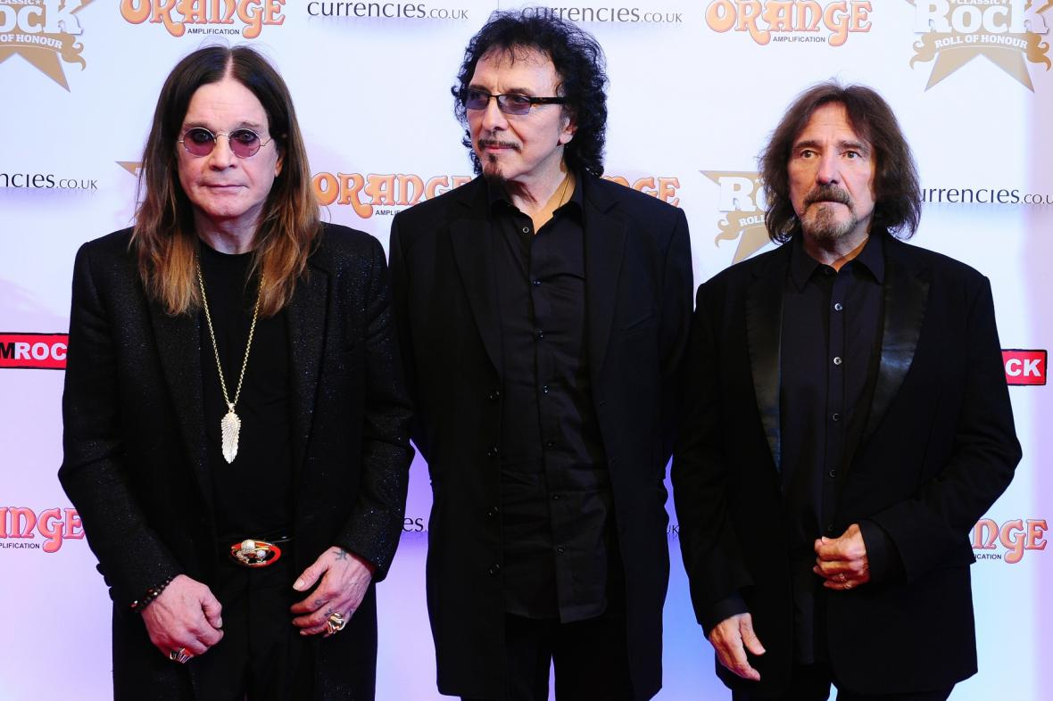 Ozzy Osbourne, Tommy Iommi a Geezer Butler