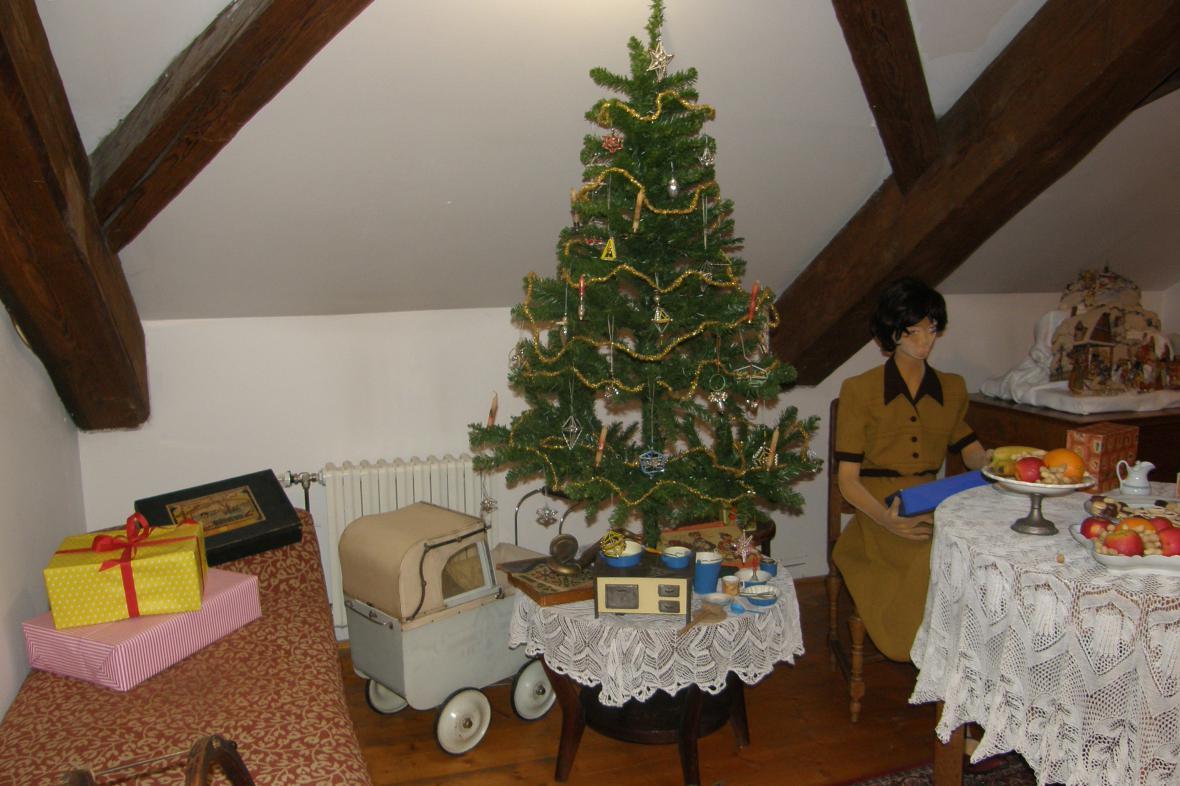 Z vánoční výstavy v Mělníku