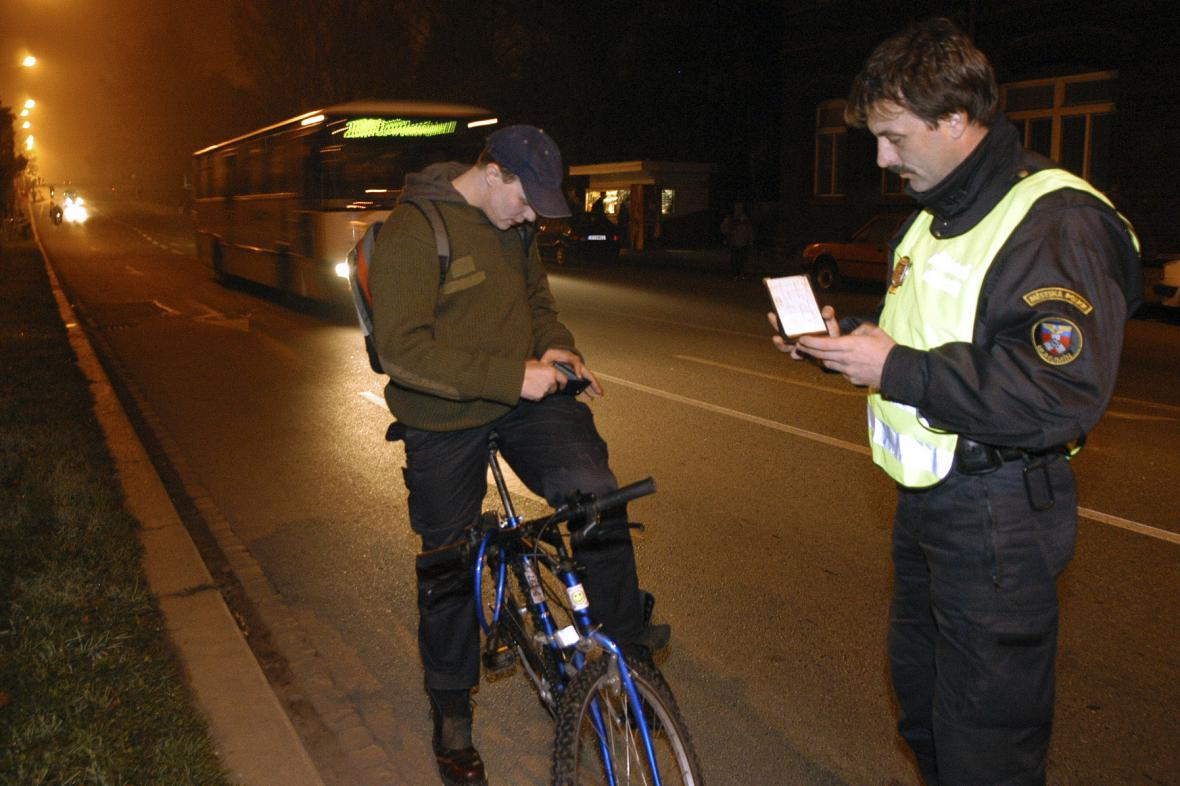 Preventivní kontrola cyklistů