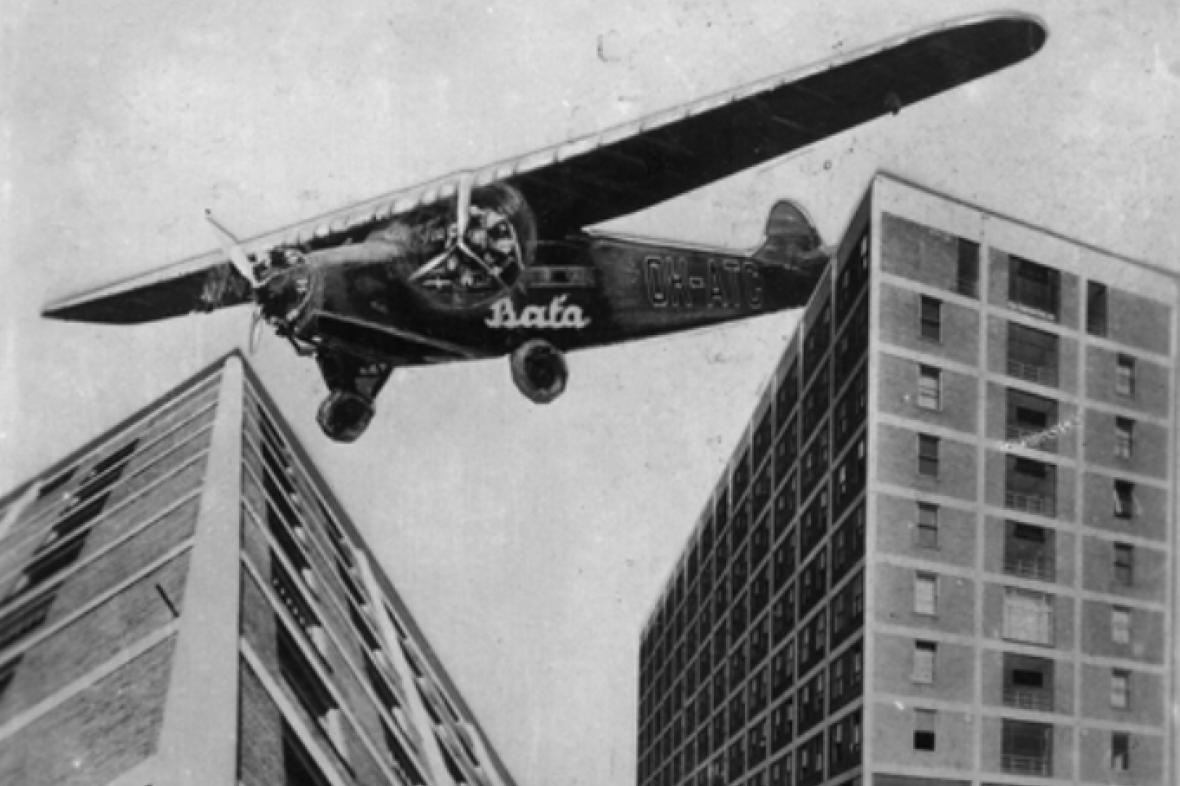 Hotel Baťa (fotomontáž, po roce 1930)