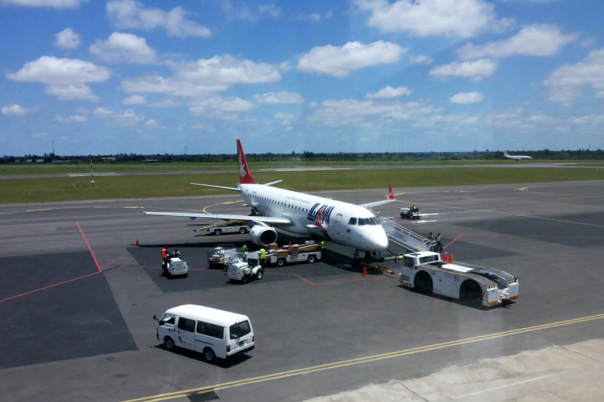 Letadlo společnosti Mozambique Arlines - právě od ní pocházel vrak nalezený v Namibii