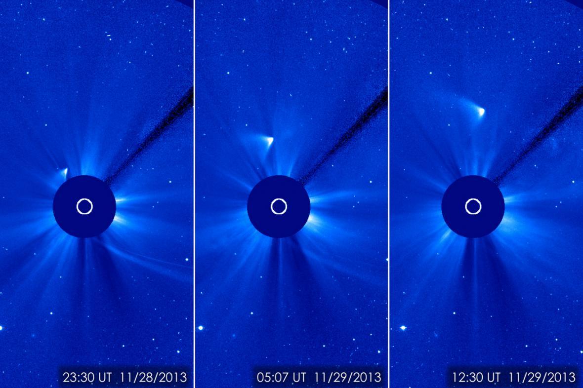 Kometa ISON se vzdaluje od Slunce