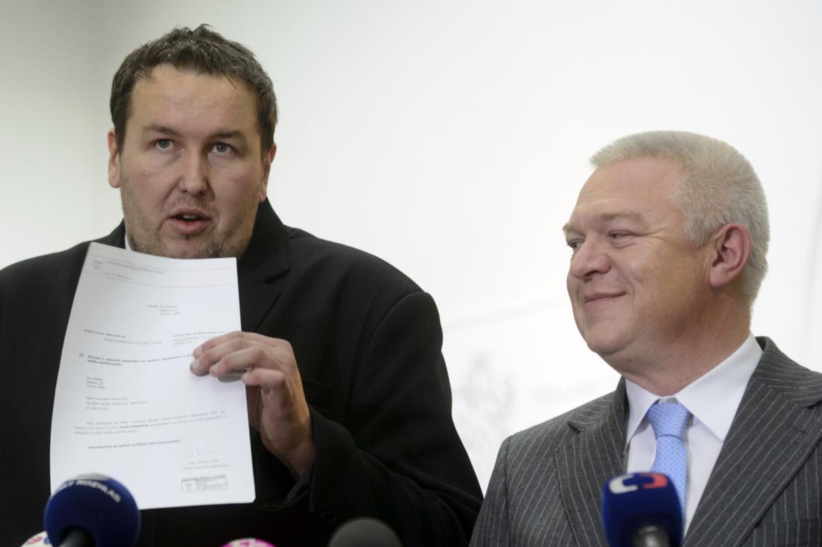 Jan Sobotka a Jaroslav Faltýnek (ANO)