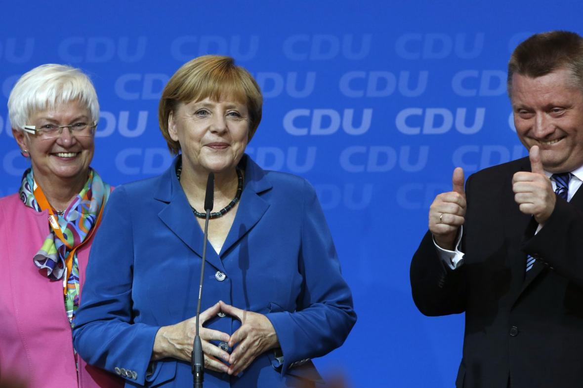 Angela Merkelová se stranickými kolegy