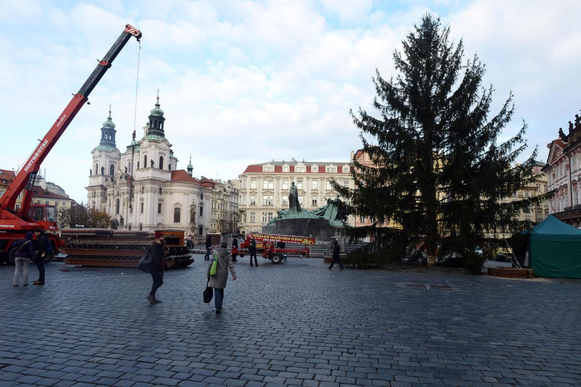 Vánoční strom na Staroměstském náměstí