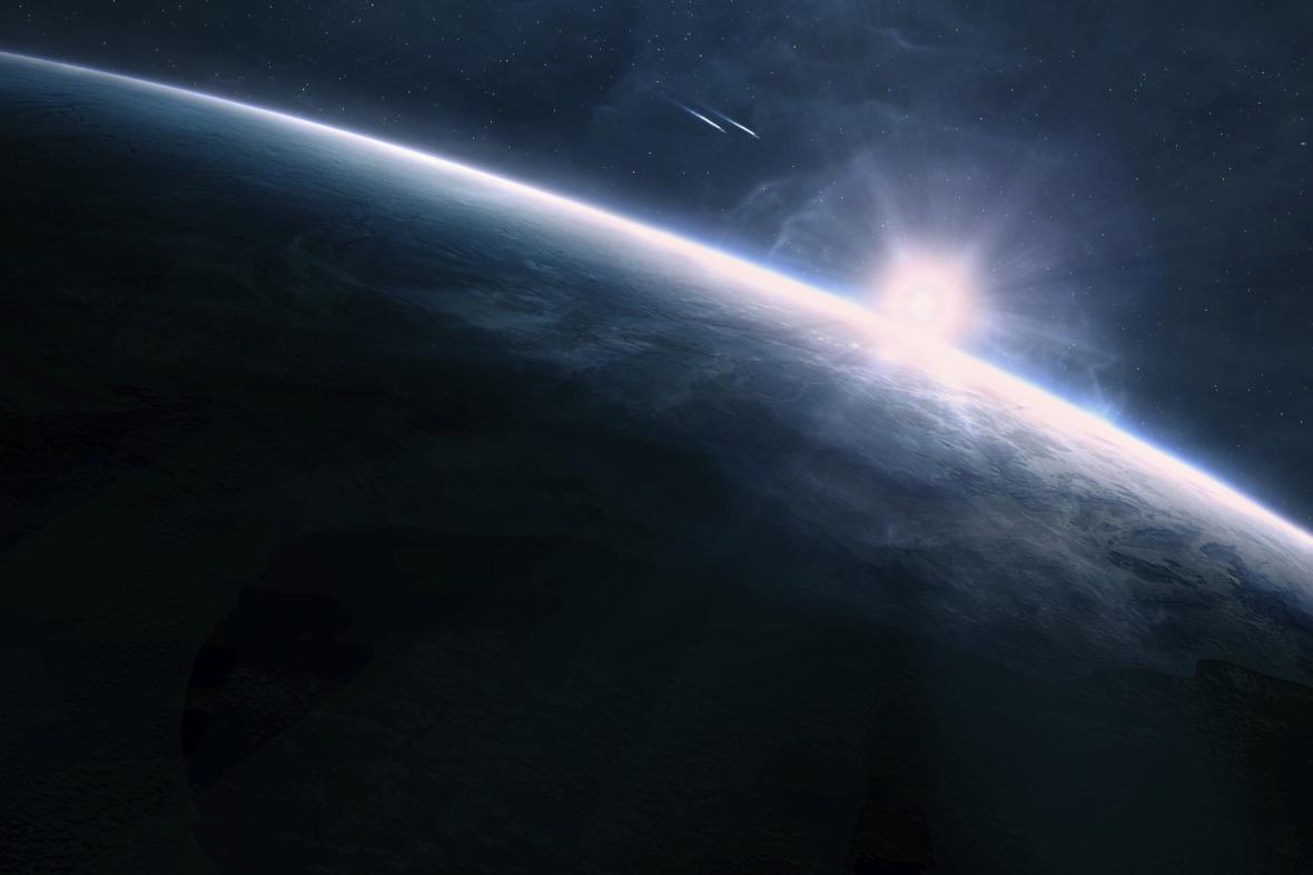 Východ Slunce ve vesmíru
