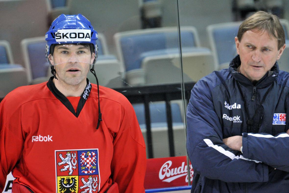 Jaromír Jágr a Alois Hadamczik