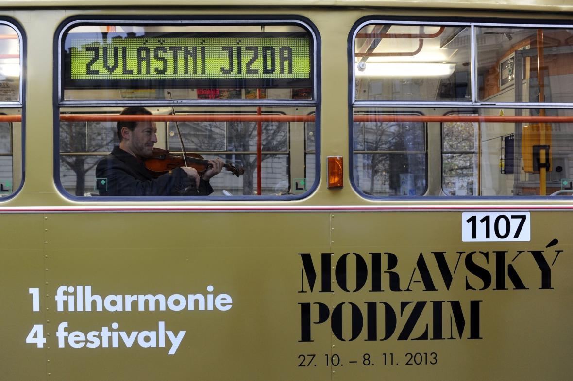 Koncert Filharmonie Brno v tramvaji