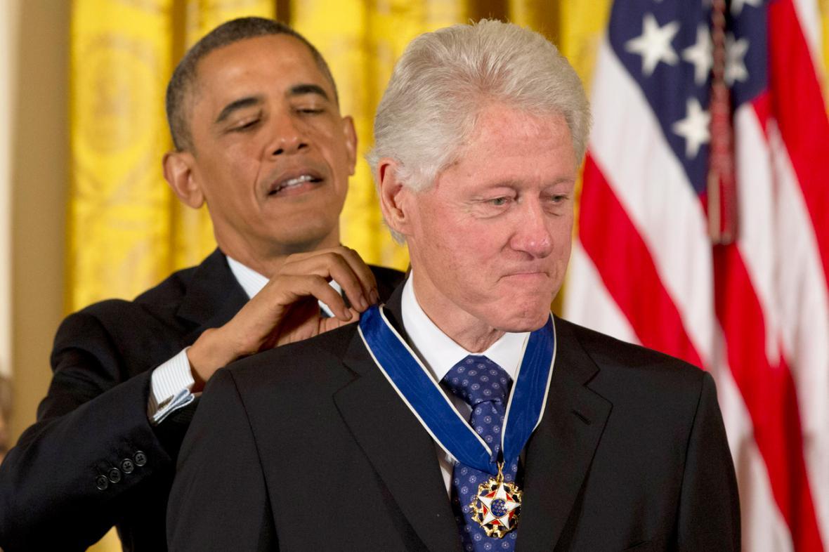Medaile svobody pro Billa Clintona