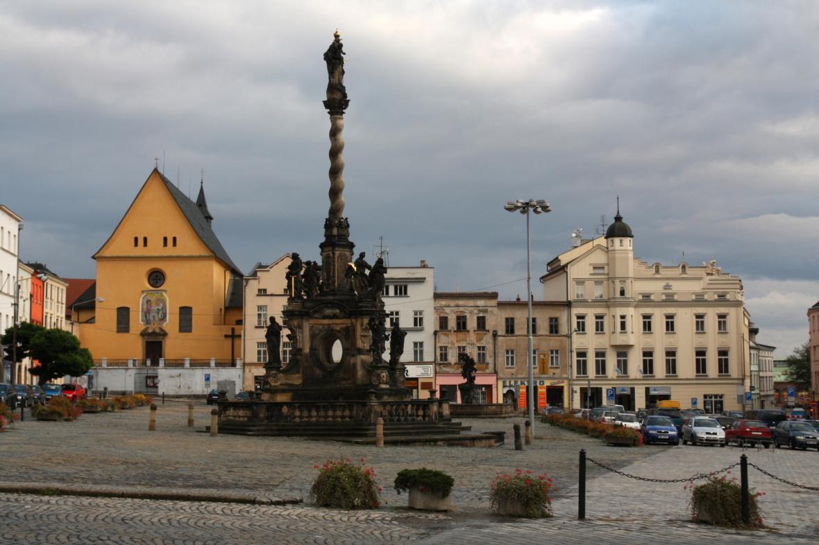 Olomouc, Dolní náměstí, Morový sloup Panny Marie