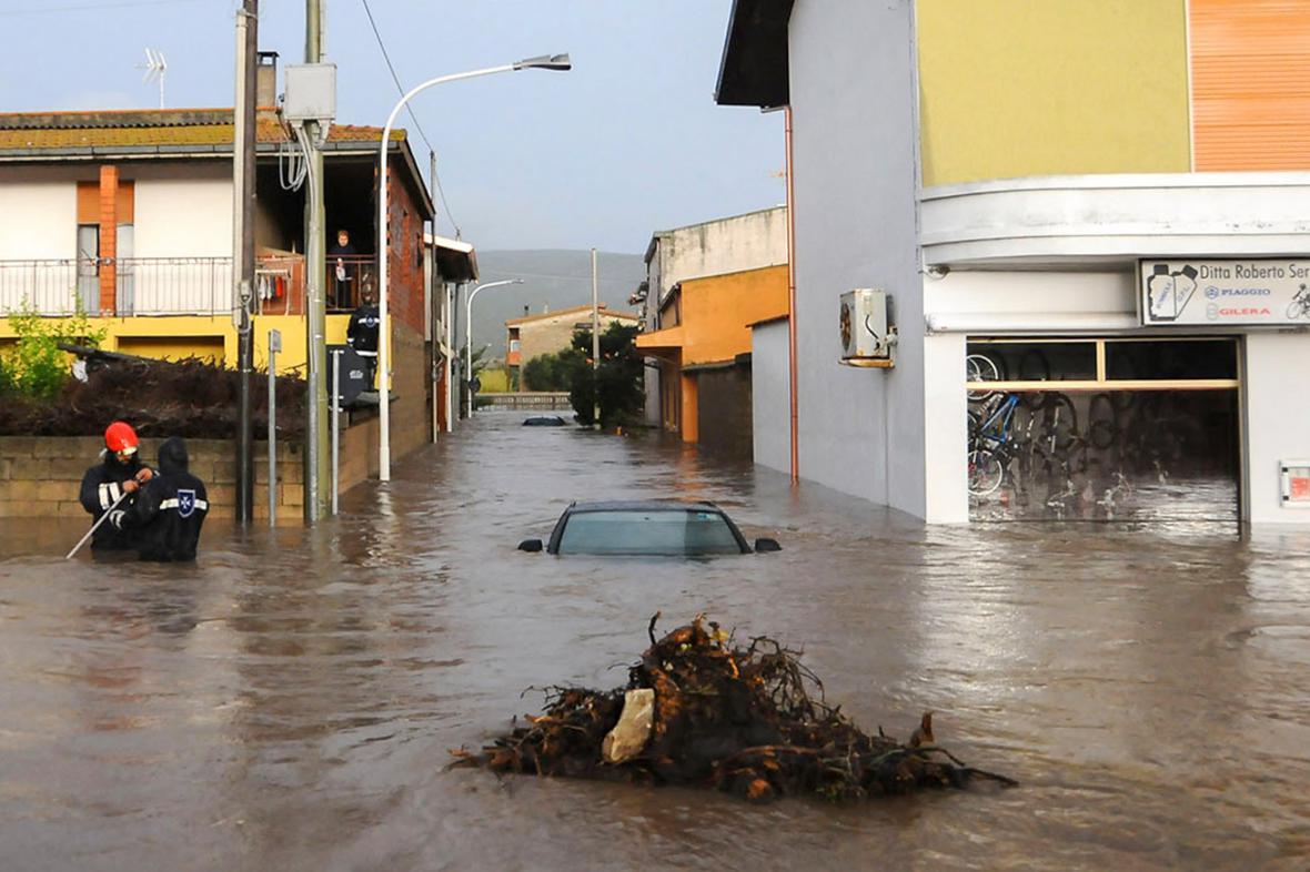Záplavy na Sardinii