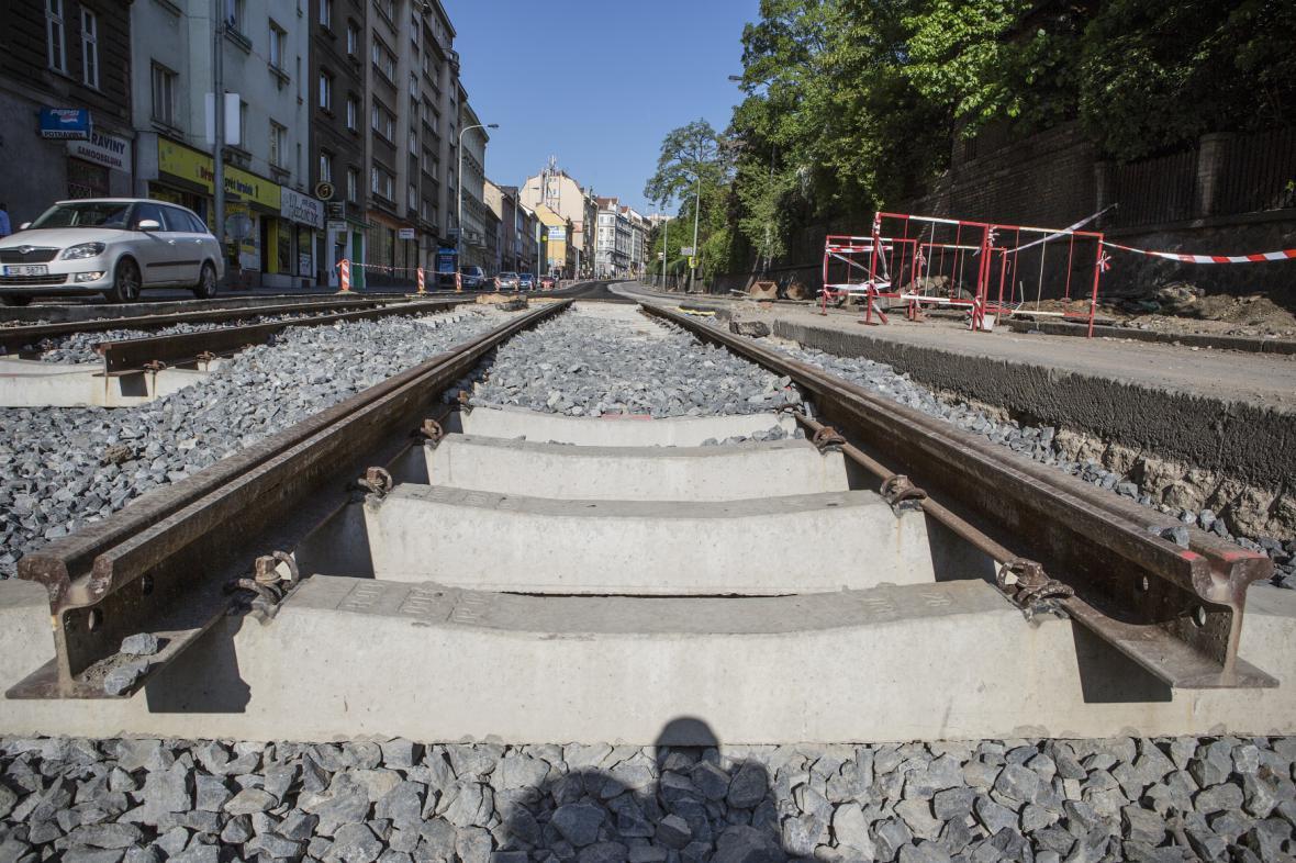 Stavba tramvajové trati