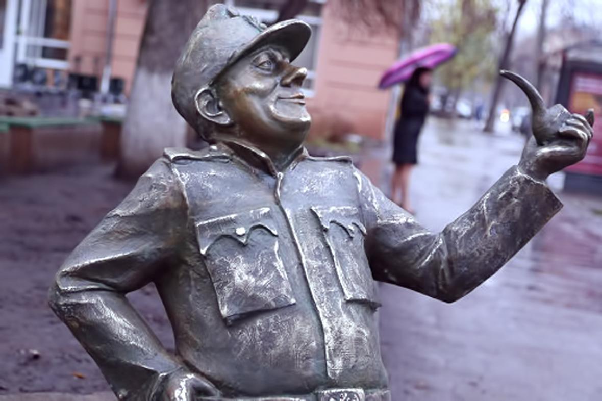 Švejkova socha v Samaře